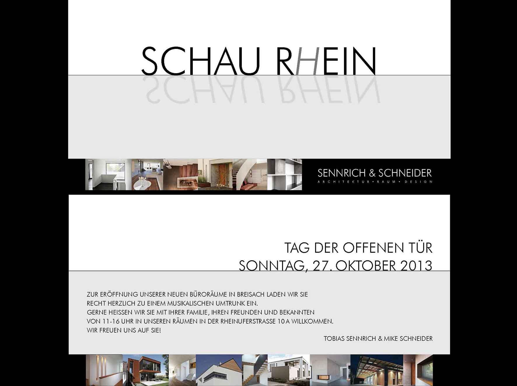 Das Plakat des Tag der offenen Tür bei Sennrich und Schneider