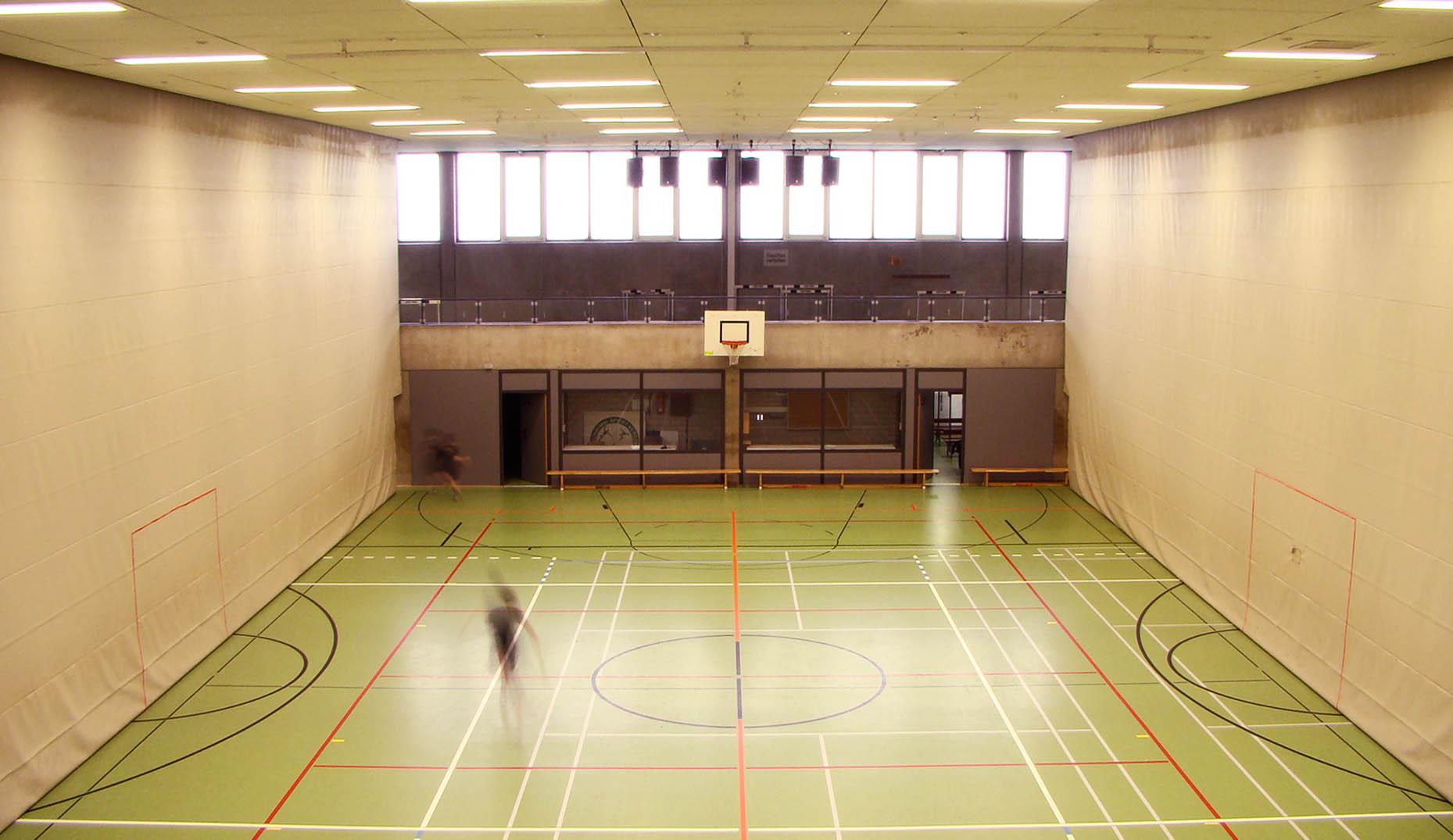 Die Breisacher Sporthalle nach der Sanierung durch Sennrich und Schneider GmbB