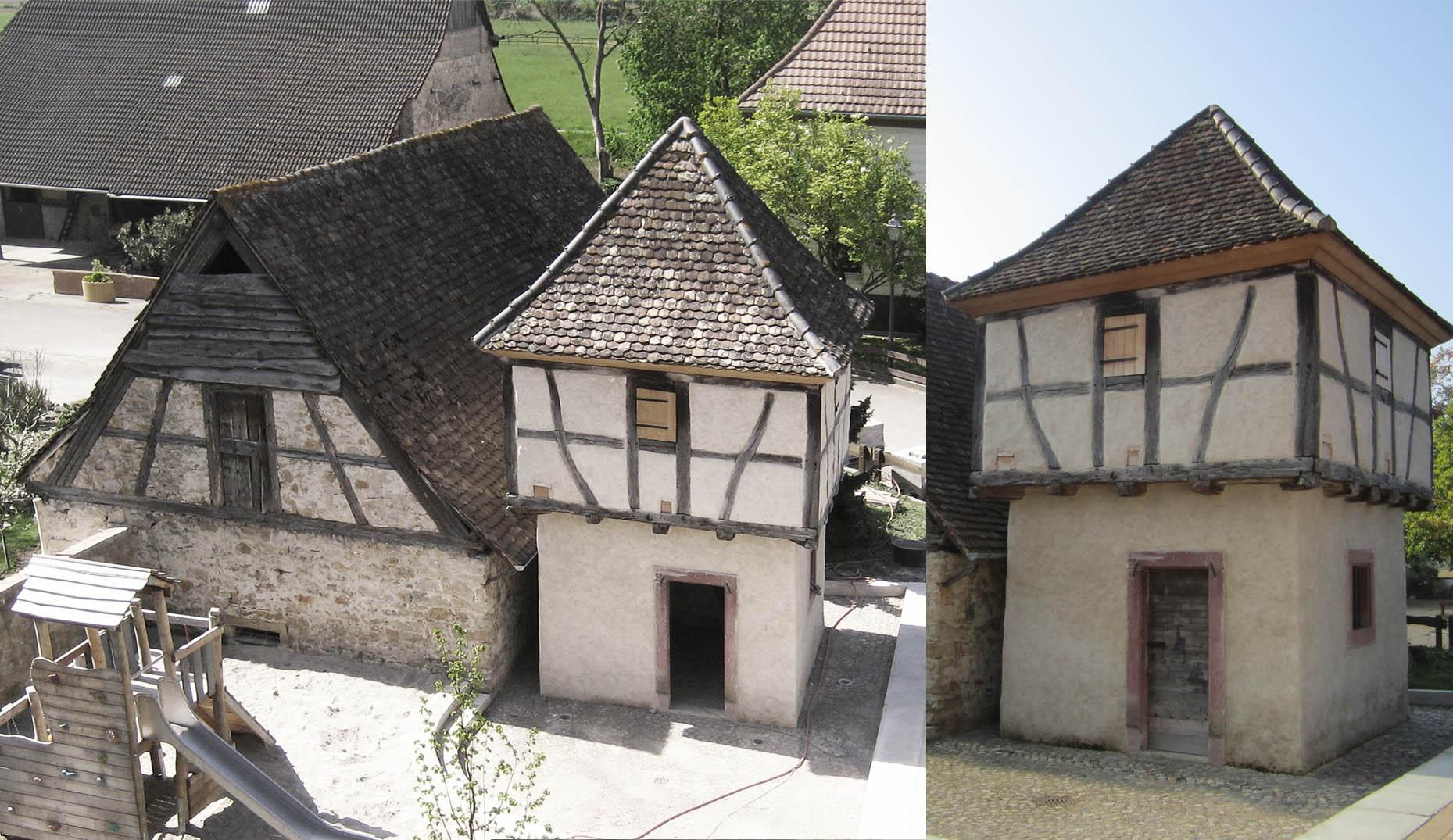 Der sanierte Taubenturm in Grezhausen