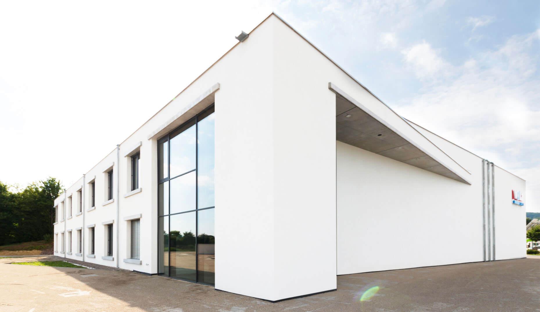 Das Gebäude von Volz Selbstklebetechnik