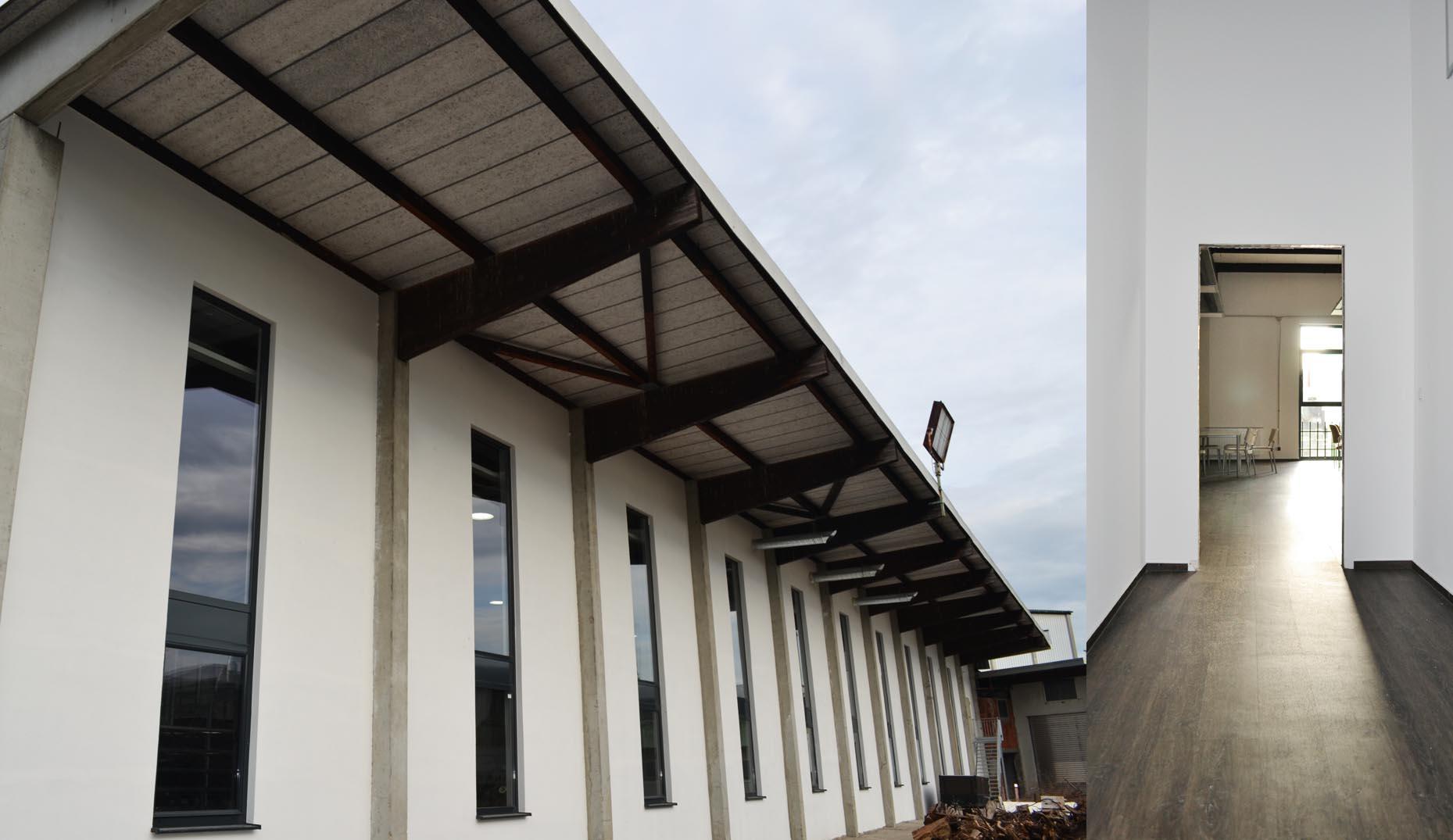 Eine von Sennrich und Schneider gebaute Produktionshalle