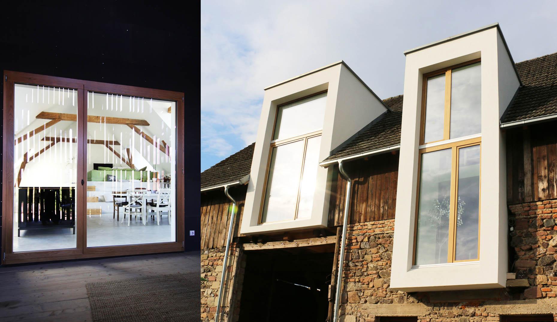 Eine gekaufte Scheune die zu einem modernen Wohnhaus umgebaut worden ist